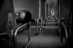 A HOMELESS BOY SLEEPING INSIDE THE TRAIN Jakarta, Indonesia, August 2009 (Budi Prakasa/Jakarta, Indonesia)