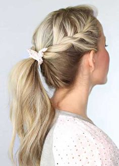 wedding hairstyles easy hairstyles hairstyles for school hairstyles diy hairstyles for round faces p Easy Work Hairstyles, Pony Hairstyles, Hairstyle Ideas, Easy Hairstyle, Wedding Hairstyles, Everyday Hairstyles, Natural Hairstyles, Summer Hairstyles, Hairstyles For Working Out