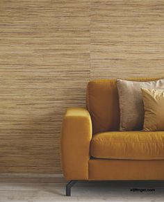Eijffinger I Natural Wallcovering II - wallpaper/behang Cozy Living Rooms, Living Spaces, What's Your Style, Color Of The Year, Living Room Designs, Love Seat, New Homes, Relax, Couch