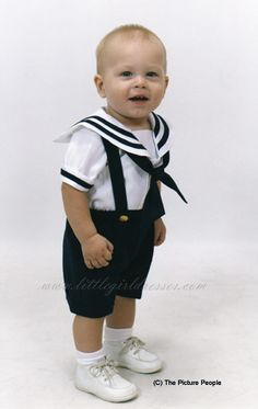 Baby sailor outfit for baby boy!! I'm so doing this!
