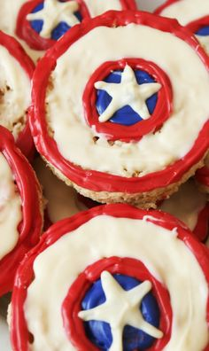 Patriotic Rice Krispie Treats