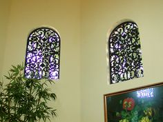 Faux Wrought Iron Window Inserts