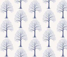 Tree Toile fabric by katiame on Spoonflower - custom fabric Custom Wallpaper, Home Accents, Custom Fabric, Spoonflower, Gift Wrapping, Gallery Walls, Unique, Prints, Pattern