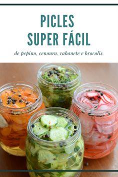 Receita de picles de rabanete, cenoura, brocolis e pepino