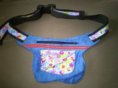 Hip bag made from old pair of jeans / Upcycling