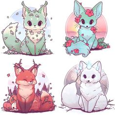New drawing cute fox Ideas - Happy Tiere Pet Anime, Anime Animals, Anime Art, Cute Kawaii Drawings, Kawaii Art, Kawaii Chibi, Funny Drawings, Cute Fox Drawing, Kawaii Anime