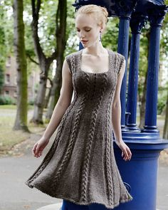 Normally not a huge fan of knitted dresses, but this is beautiful. Icon Dress, from Ravelry. Pattern is 7.50 GBP.