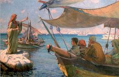 A beautiful painting of Mary Magdalene preaching in the Bay of Marseille, by Frederic Monenard