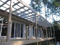 Clear Laserlight Pergola Roofing Sydney Roofing