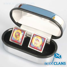 Galloway Clan Crest Cufflinks. Free worldwide shipping available