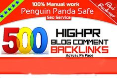 do 500 High PR Blog Comments Backlink by raju247