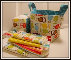 I think I could make all of these items...and the fabric bucket too...perfect for baby showers