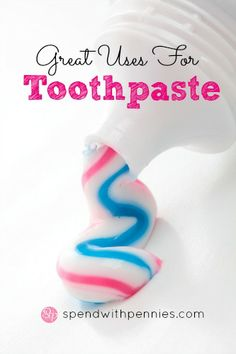 Great Uses for Toothpaste Love it? Pin it to SAVE it! Follow Spend With Pennies on Pinterest for more great tips, ideas and recipes! Leave your own great tips in the comments below! It sits on your counter in your bathroom all day. You hardly notice...