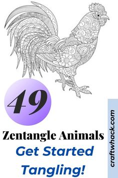 Here are loads of Zentangle animals for you to gaze upon, draw inspiration from, and be inspired enough to make your own. See it here! #arts #crafts #zentangles