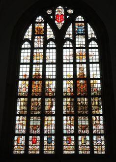 Haarlem - Grote of St. Bavokerk. Glas-in-loodraam. Foto: G.J. Koppenaal - 29/6/2017