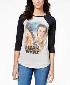 Juniors' Star Wars Graphic Baseball T-Shirt from Mighty Fine - Star Wars - Macy's Katies Fashion, Cool Shirt Designs, Baseball Tee Shirts, Star Wars Outfits, Star Wars Merchandise, Lularoe Shirts, Disney Outfits, Disney Clothes, Junior Tops