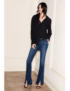 Clemence Shirt - Black - PAIGE