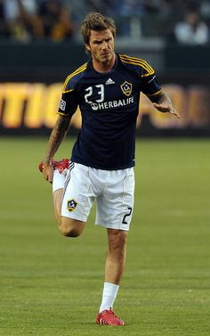 Its official im obsessed with soccer players.  david beckham <3