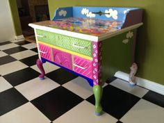 hand painted furniture  vintage hand painted by brushstrokes2inc
