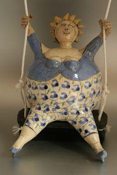 Bolle Beelden - May den Arend Keramiek Ceramic Sculpture Figurative, Sculpture Clay, Paper Clay, Paper Art, Ceramic Pottery, Ceramic Art, Plus Size Art, Fat Art, Whimsical Art