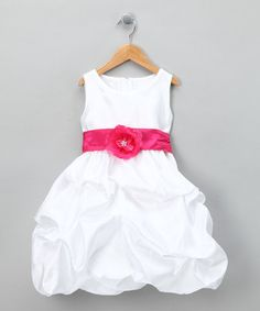Another great find on #zulily! White Fancy Bon Bon Dress - Infant, Toddler & Girls by Kid Fashion #zulilyfinds