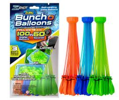 Have these water balloons for target practice - green/red/blue