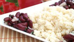 Cous cous con peperoni, cipolle e fagioli Fagioli, Mashed Potatoes, Grains, Ethnic Recipes, Food, Whipped Potatoes, Meal, Mashed Potato Resep, Eten