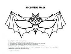 bat mask template - Google Search