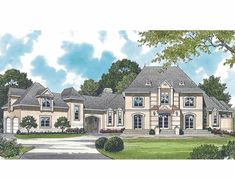Eplans Chateau House Plan - Dandridge - 6049 Square Feet and 4 Bedrooms from Eplans - House Plan Code HWEPL08462