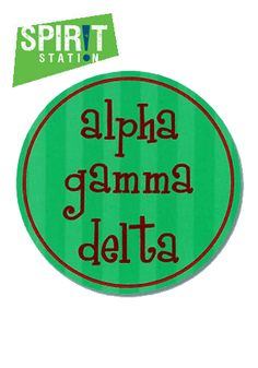 Alpha Gamma Delta Round Sticker-On sale this week! (1/20-1/26/13)