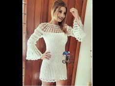 DIY CROCHET VESTIDO PALA FILE DE FLORES A PEDIDO HD - YouTube