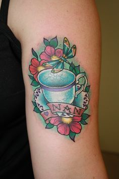 Teacup tattoo by Eddy-Lou Inspiration for Memorial tattoo