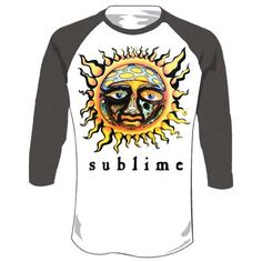 a0fdc230f Sublime - Sun Baseball Tee Mens T-Shirt In White/Charcoal Sublime Sun,