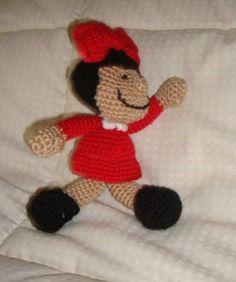 muñeca tejida a crochet con técnica amigurumi mafalda lana suave de calidad.,relleno de fibra amigurumi