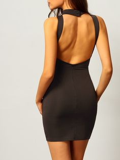 Shop Black Halter Backless Slim Bodycon Dress online. SheIn offers Black Halter Backless Slim Bodycon Dress & more to fit your fashionable needs.
