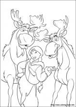 brother bear 2 coloring pages on coloring bookinfo - Brother Bear Moose Coloring Pages