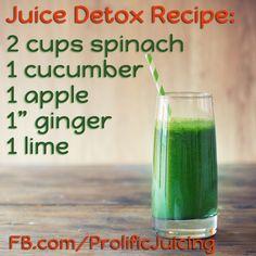 Juice Detox Recipe - enjoy!