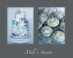 winter wonderland cake and minis by Mili's Sweets