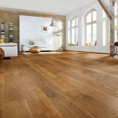 Haro parquet amber oak Sauvage, oak, wooden f Wide Plank Flooring, Timber Flooring, Laminate Flooring, Hardwood Floors, Parquet Haro, Wood Parquet, Floor Colors, French Oak, New Homes