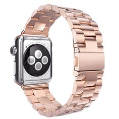 Stainless Steel Metal Strap Band 3 Ball Link Bracelet for Apple Watch i Watch 42mm(Rose Gold) #Affiliate