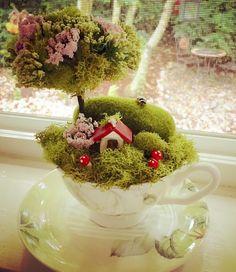 Fairies in a Teacup by Woodlandsunrise on Etsy