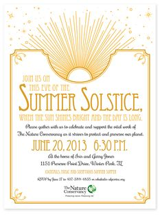 summer solstice party invite - Google Search