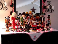 nutcrackers  Maybe I will do this.. this christmas.. put all the nutcrackers together.. I have 6 I think.