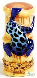 Poison Blue Frog, Limoges box