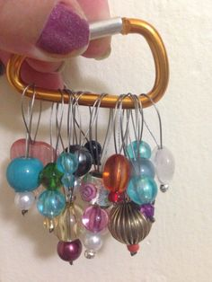 5 stitch markers of various shapes sizes and beads and awesomeness Cute Stitch, Stitch Markers, Mystery, Packing, Etsy Shop, Shapes, Cheat Sheets, Beads, Knitting