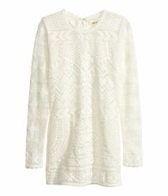 Isabel Marant pour H&M Fitted sheer lace top with rounded neckline