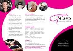 New Leaflet for Trish's Beauty Salon (outside)