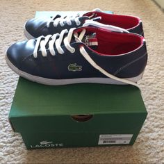 288e94c1e1 Lacoste Marcel Leather Sneaker Very Good condition (pls see pics for  details). Color: Navy, with the original box.