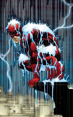 Daredevil by Bob Layton (Tribute to Jon Romita Jr) Marvel Comic Universe, Marvel Art, Marvel Dc Comics, Marvel Heroes, Comic Book Artists, Comic Book Characters, Comic Artist, Marvel Characters, Daredevil Artwork