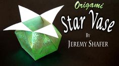 [Simple] How to fold a stylish, rather easy origami star vase. This model is taller and more shapely than the traditional star box which I taught here: https...